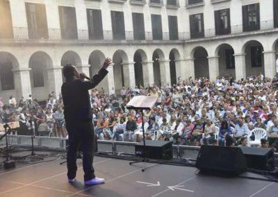 David Durán actuando en las fiestas de Santander