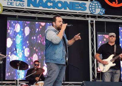 David Durán cantante de Santander actuando