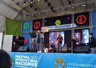 David Durán en el festival de las naciones en Santander